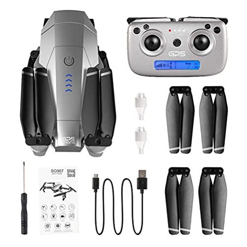Quadcopter Pieghevole FPV WiFi RC Drone, Droni GPS per Adulti, con Fotocamera HD 4K, Trasmissione Immagini HD WiFi 5G, Zoom 50X, Doppia Fotocamera, Resistenza al Vento Livello 7