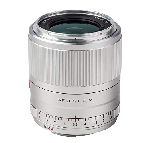 VILTROX 単焦点レンズ EF-M 33mm f1.4 STM AF キャノンEF-Mマウント交換レンズ APS-C単焦点レンズ Canon EOS M10 M50 M100 M3 M5 M6 M6Ⅱカメラ適用