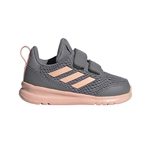 adidas Toddler Altarun Cloudfoam I Running Shoe, Grey/Glow Pink/White, 5K M US Toddler