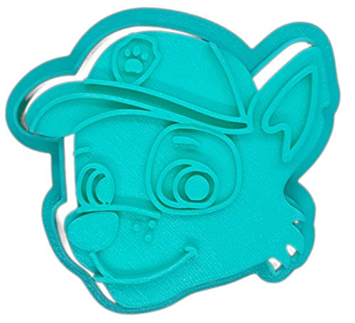 Desconocido Molde Cortador de Galletas - Dibujos Animados de Patrulla Canina - Rocky (Turquesa)