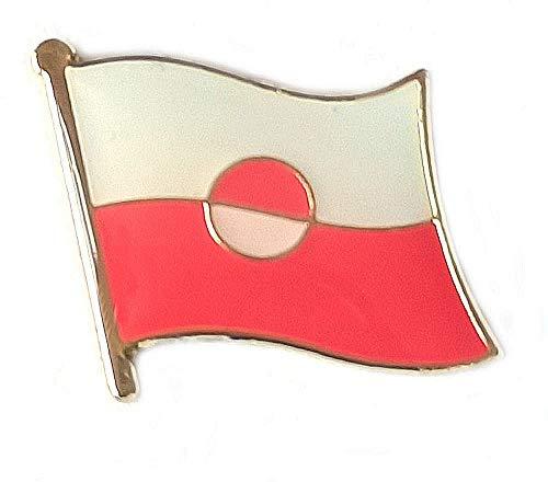 Kleine Anstecknadeln, Motiv: Grönland-Flagge, emailliert, Metall, Souvenir für Hut, Kleidung, Rucksack