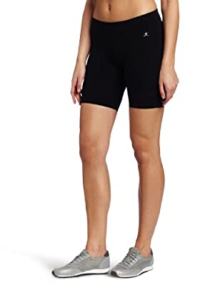 Danskin Women's Essentials Seven Inch Bike Short, Black, Medium