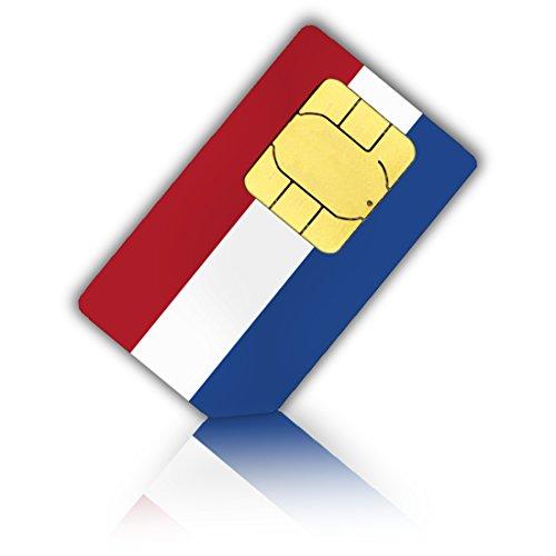 Simkaart voor Nederland (Nederlands) + 5 GB mobiel internetdatumvolume - standaard & micro-SIM - Nederlandse prepaid simkaart