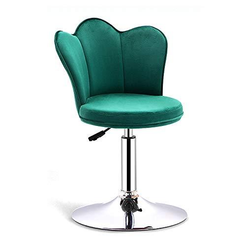 Barhocker, Drehstuhl mit Rückenlehne, Barhocker für zu Hause, Hochstuhl für die Rezeption, Stabiler Tellerfuss, Perfekter bequemer Stuhl für das ungezwungene Café, SHPEHP-Green