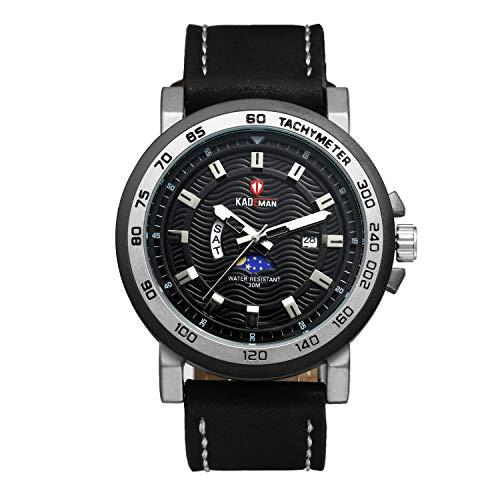 Avaner Reloj de Pulsera Cuarzo Japonés para Hombre Grande Reloj Depor
