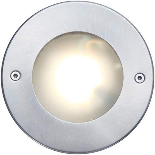 Spot LED encastrable au sol Strata - Robuste et élégant - 320 lumens - Acier inoxydable et fonte d'aluminium
