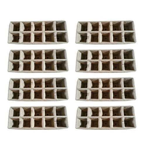 Toyandona Samen-Starter-Tablett, natürlich und biologisch abbaubar, Pflanztöpfe für Bio-Pflanzenwachstum, Setzling-Starterschalen 13 Stück (zufällige Farbe)
