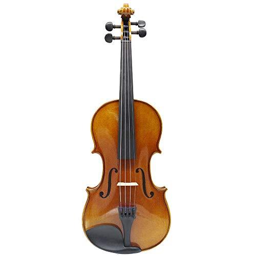 Ofgcfbvxd Durable Musikinstrument Hohe Qualität Massivholz Violine Set for Studenten Kinder Erwachsene mit Hardcase, Kolophonium, Zwei Bogen Exquisiter Aussehen (Color : Brown, Size : 3/4)