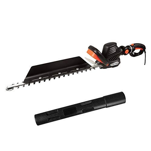 DELTAFOX Elektro Heckenschere elektrisch - 680 W - 68cm Laser Cut Messer - 24 mm - Schnittgutsammler - innovativem 3-D Griff drehbar und schwenkbar - Heckenschnitt
