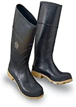 Bata Shoe 86312-13 Onguard Industries Size 13 Black 16'' PVC Standard Chemical Resistant Knee Boots with Cleated Outsole and Steel Toe, English, 15.34 fl. oz, Plastic, 14