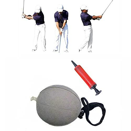 MRSM Portable Inflatable Tour Striker Smart Ball Golf Swing Training Aid Posture Correction Beginner Golf Swing Training Assistance for Swing Correction (Gray)