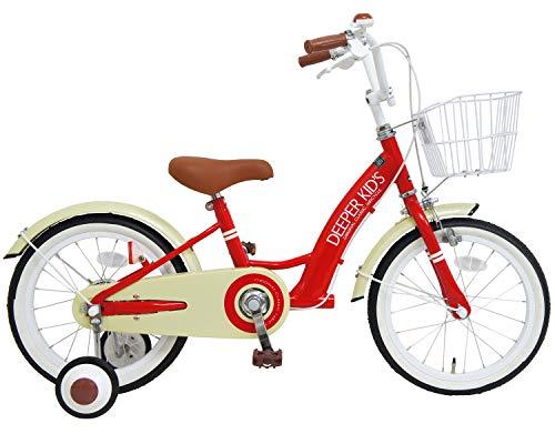 DEEPER(ディーパー) 16インチ子供用自転車 バスケット付き クラシックデザインが人気の幼児用自転車 DE-001...