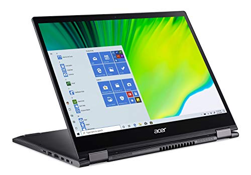 "Acer Spin 5 Convertible Laptop, 13.5"" 2K 2256 x 1504 IPS Touch, 10th Gen Intel Core i7-1065G7, 16GB LPDDR4X, 512GB NVMe SSD, WiFi 6, Backlit KB, FPR, Rechargeable Active Stylus, SP513-54N-74V2"