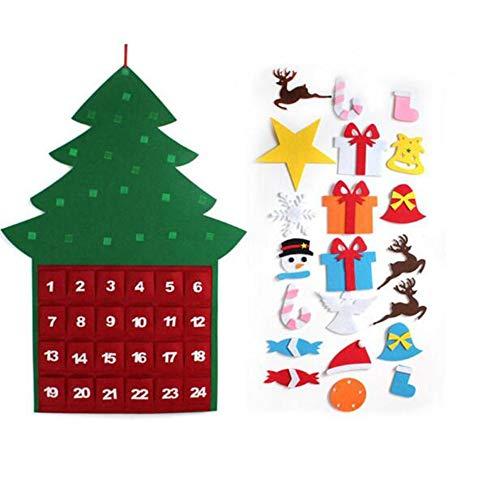 SKYyao Adventskalender Weihnachtsschmuck Basteln Gefüllter Weihnachtsbaum Stoff Adventskalender Weihnachtsgeschenke