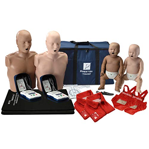 Prestan Diversity Take2 CPR Manikin & UltraTrainer Kit with Feedback (2-Adult, 2-Infant, & 2-UltraTrainers) and MCR Medical Accessories