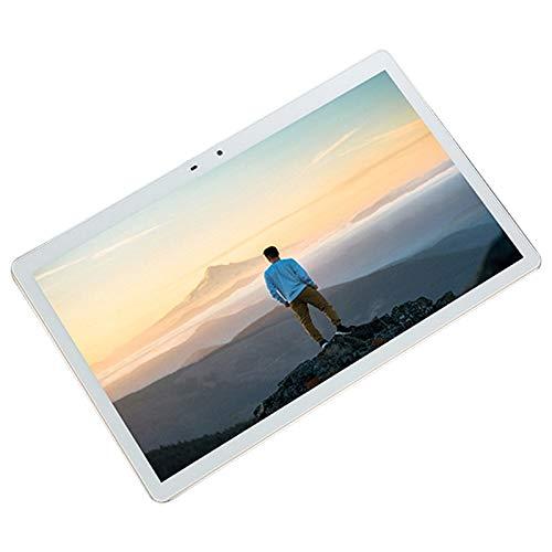 Nrpfell Tablet PC, Procesador de Ocho NúCleos la Red 4G Puede Memoria Flash RáPidamente Tablet PC Inteligente de 12 Pulgadas (64G, Enchufe de la UE, Blanco)