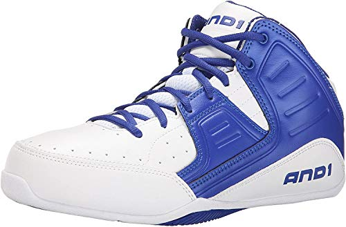AND 1 Men's Rocket 4.0-m, White/Royal-White, 12 M US