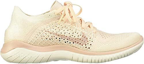 Nike Women's WMNS Free Rn Flyknit 2018 Low-Top Sneakers, Multicolour (Guava Ice/Particle Beige/Sail/Rust Pink 001), 8.5 UK