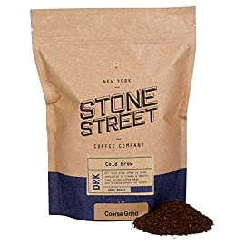Stone Street Coffee Cold Brew Reserve, Coarse Ground, 1 LB Bag, Dark Roast, Colombian Single Origin 1 CRAFTED FOR COLD BREWING - The perfect blend for making your own cold brew coffee ROAST LEVEL - Dark Roasted for a bold, yet perfectly smooth cup of cold brew WHOLE BEAN - 100% Colombian Supremo beans so you can coarse grind them right before brewing for the freshest flavor