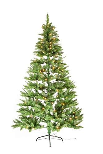 Best Season PE/PVC-Weihnachtsbaum 210 cm, mit Beleuchtung, 210, Plastik, Grün, 116 x 116 x 210 cm