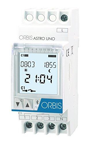 Orbis Astro UNO 230 V Interruptor horario Digital de Distribuidor, OB178112