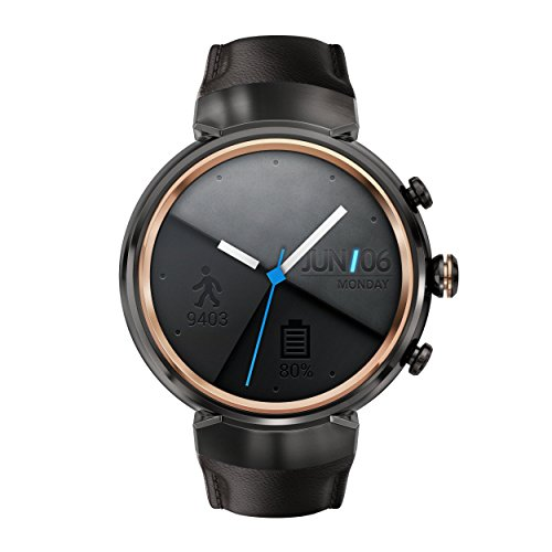 ASUS ZenWatch 3 WI503Q-GL-DB 1.39-inch AMOLED Smart Watch with dark brown leather strap