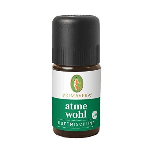PRIMAVERA Atmewohl Duftmischung bio 5 ml - Badezusatz mit Eukalyptus- und Fichtennadelduft - Aromatherapie - befreiend, wärmend - vegan
