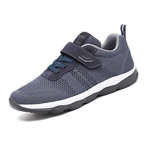 Fangace Unisex Laufschuhe Outdoor Fitness Schuhe Freizeitschuhe Leicht Atmungsaktiv Turnschuhe-Sneaker mit Klettverschluss