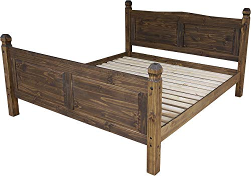 Doppelbett 180x200 Eiche antik Rio Classico Schlafzimmer Holz Pinie Massivholz Echtholz Farbe wählbar Brasilmöbel