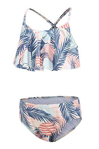 Bikini für Mädchen, Kinder, zweiteilig, Hawaii-Stil, für den Strand, 3-16 Jahre, Palme 020, 11-12 Jahre