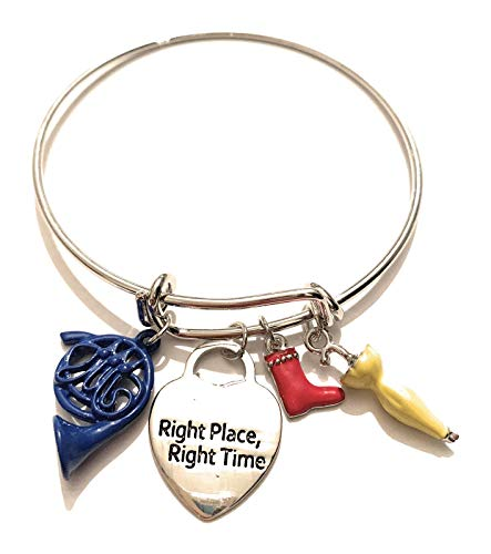 giulyscreations Bracciale Bangle How I Met Your Mother Metallo Nichel Free HIMYM Ombrello Giallo Corno Blu Francese alla fine Arriva Mamma Blue French Horn Yellow Umbrella Right Place Right Time Pop