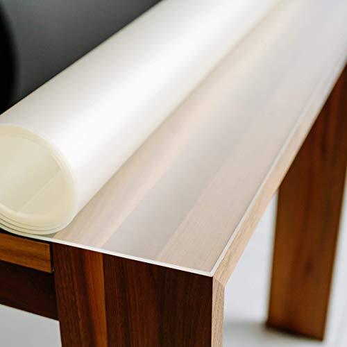 Profolio | Tischfolie feinmattiert für Glastische & Hochglanzoberflächen + abgeschrägte Kante | keine Luftblasen | Tischdecke, Schutzfolie 2mm dick | Made in Germany | Größe wählbar | 120 x 80 cm