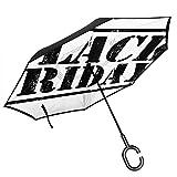 Parapluie inversé Moderne Black Fridays - Grand Parapluie réversible à Double...