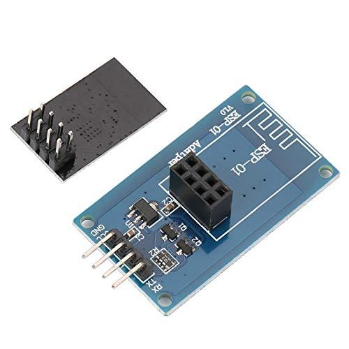 Módulo inalámbrico Wi-Fi 4.5V - módulo ESP8266 de 5.5V con adaptador ESP-01 Notebook para teléfono móvil