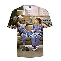 YLWX Grey's Anatomy 3D Tシャツ メンズとレディース カジュアルな ラウンドネック スウェットシャツ (Color : 1, Size : 4XL)
