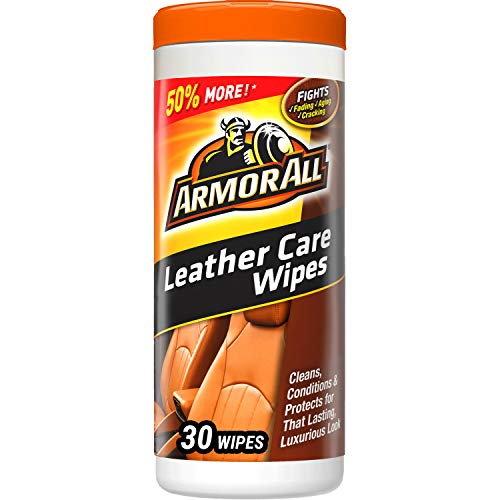 Armor All Car Leather Conditioner & Cleaner Wipes – Cleaning for Cars & Truck & Motorcycle, 30 Count, 18581B