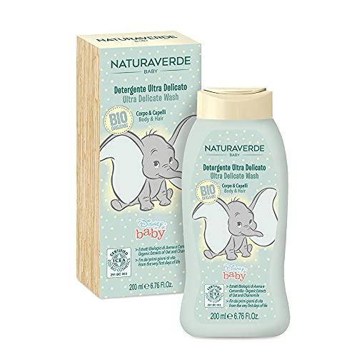 Naturaverde Bio Detergente Corpo e Capelli Ultra Delicato Dumbo, 200 ml