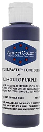 Americolor Soft Gel Paste Electric Food Coloring 45 oz  Electric Purple