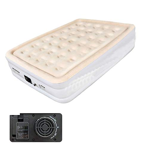 Sarada エアベッド シングルサイズ 電動ポンプ 簡易ベッド 自動空気抜き 厚い コンパクト収納 od365 (ベージュ) [並行輸入品]