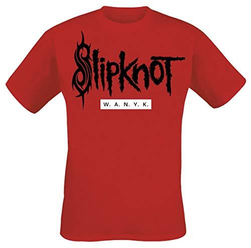 Slipknot We Are Not Your Kind Hombre Camiseta Rojo, Regular