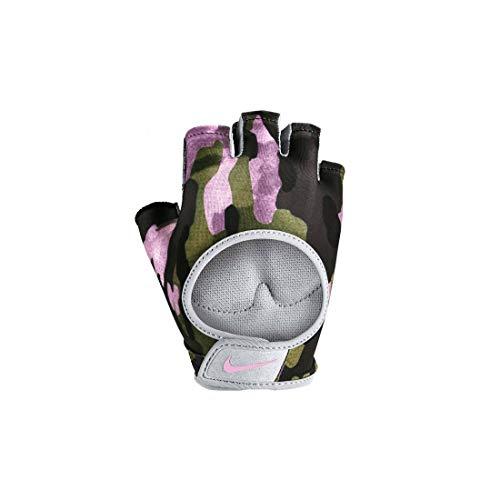 Nike Damen Women's Gym Ultimate Fitness Handschuhe, Club Gold/Wolf Grey/Pink Foam, L