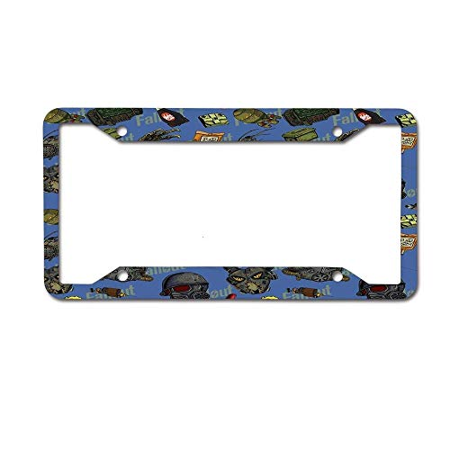Lplpol I LikeX2236; Fallout Auto License Plate Frame Cover, Aluminum Metal Auto Car Tag Cover Frame, 6x12 Inch, Wx460