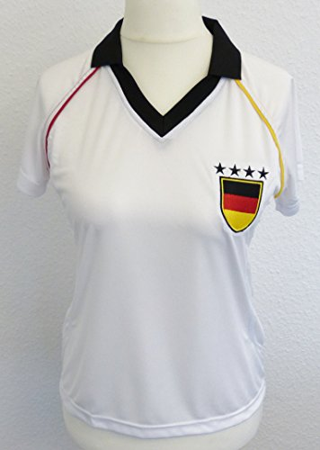 IDM Maillot, Fan, Fan Maillot Manches Longues Allemagne, BRD Lady Blanc Taille 42