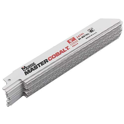 25 Pk Set MK Morse Master Cobalt Bi-Metal Reciprocating Saw Blades Wood Metal Steel 24 TPI 6