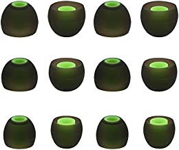 ALXCD Ear Tip for Photive PH-BTE70 Earphone, SML 3 Sizes 6 Pair Silicone Replacement Earbud Tip, Fit for Photive PH-BTE70 Wireless Bluetooth Earbuds [6 Pair](Black/Green)