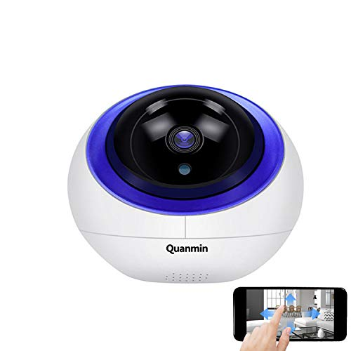 Quanmin HD Intelligent 1080P HD Security Camera Indoor PTZ IP Camera Vision Remote with Auto Tracking CCTV Surveillance Network Dome IP Camera with Smart Life App Control