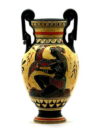 Vaso Anfora Dea Diana Artemis & Athena Antica Ceramica Greca