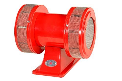 Pro-Lift-Werkzeuge Motorsirene 230 V Sirene 126dB Elektrosirene Alarmanlage Fliegeralarm Alarm-Sirene rot Horn Motor-Alarm