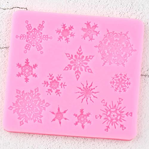 WEIPENG 3D Christmas Snowflake Lace Silicone Molds Diy Cupcake Topper Fondant Cake Decorating Tools Candy Clay Chocolate Gumpaste Moulds