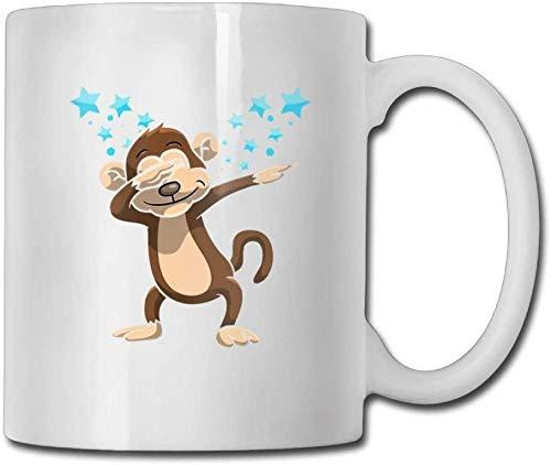 Taza de café de doble cara de 325 ml divertido mono de encargo tazas de café 11 oz novedad regalo taza de té de cerámica